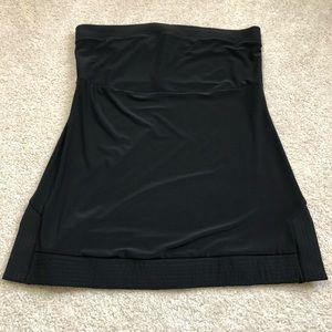 WHBM Dressy Black Strapless Top
